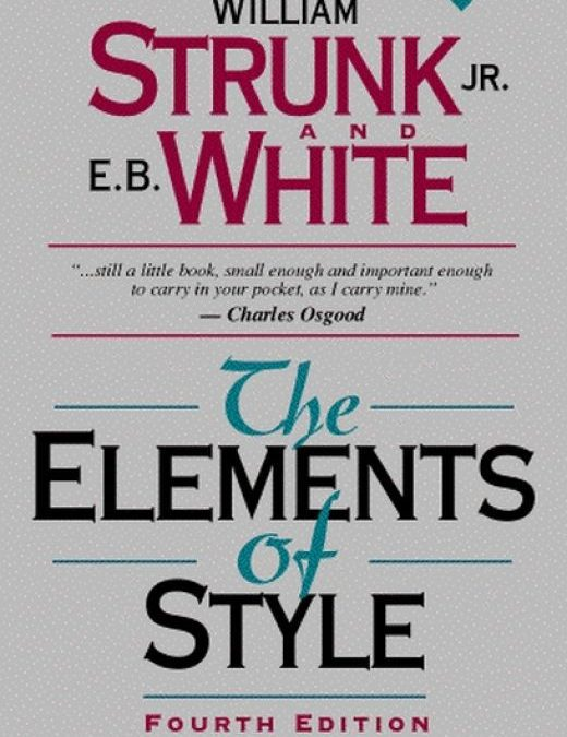 Strunk and White's Elementary Principles of Composition